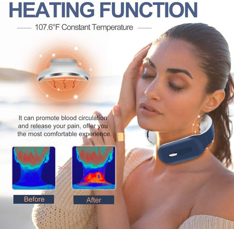 Smart Electric Neck Massager - Low Frequency Magnetic Therapy Pulse Pain Relief