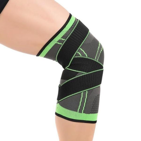 Knee Compression Sleeve Brace Deluxe with Patella Stabilizer Straps for Fitness, Running, Cycling, Basketball Knee Support Elastic Nylon Compression Pad - EcoBraces®