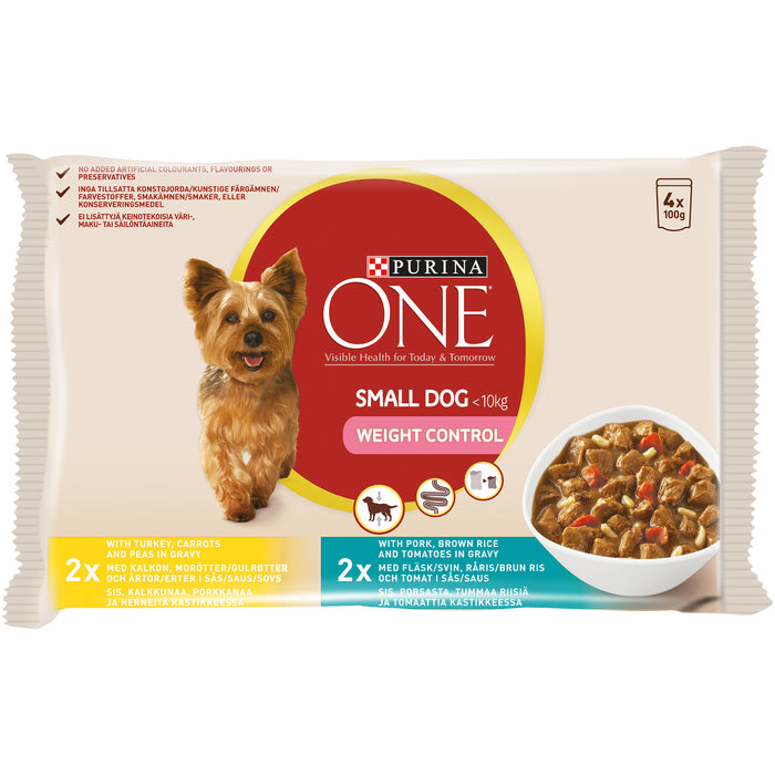 Purina ONE Small Dog Weight Control 4 x 100 g lajitelma