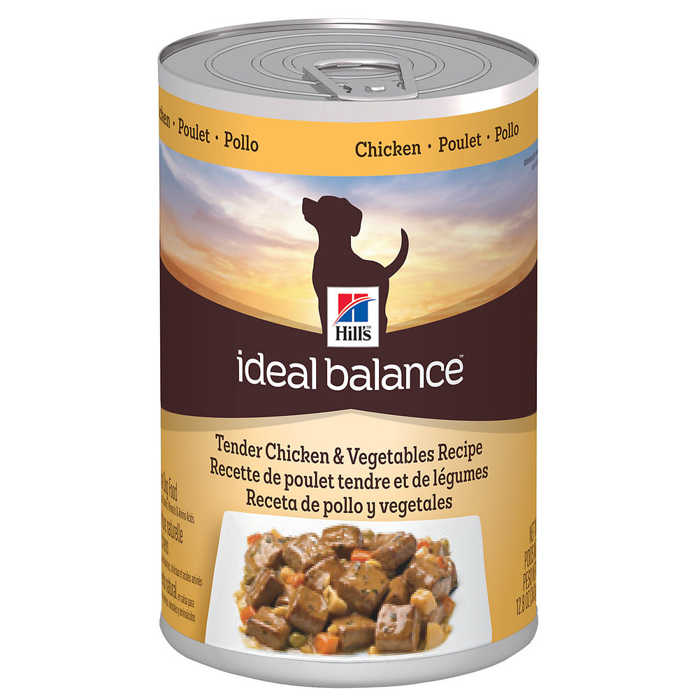 Hill's Ideal Balance Canine Adult Chicken and Vegetables Wet 12 x 363 g