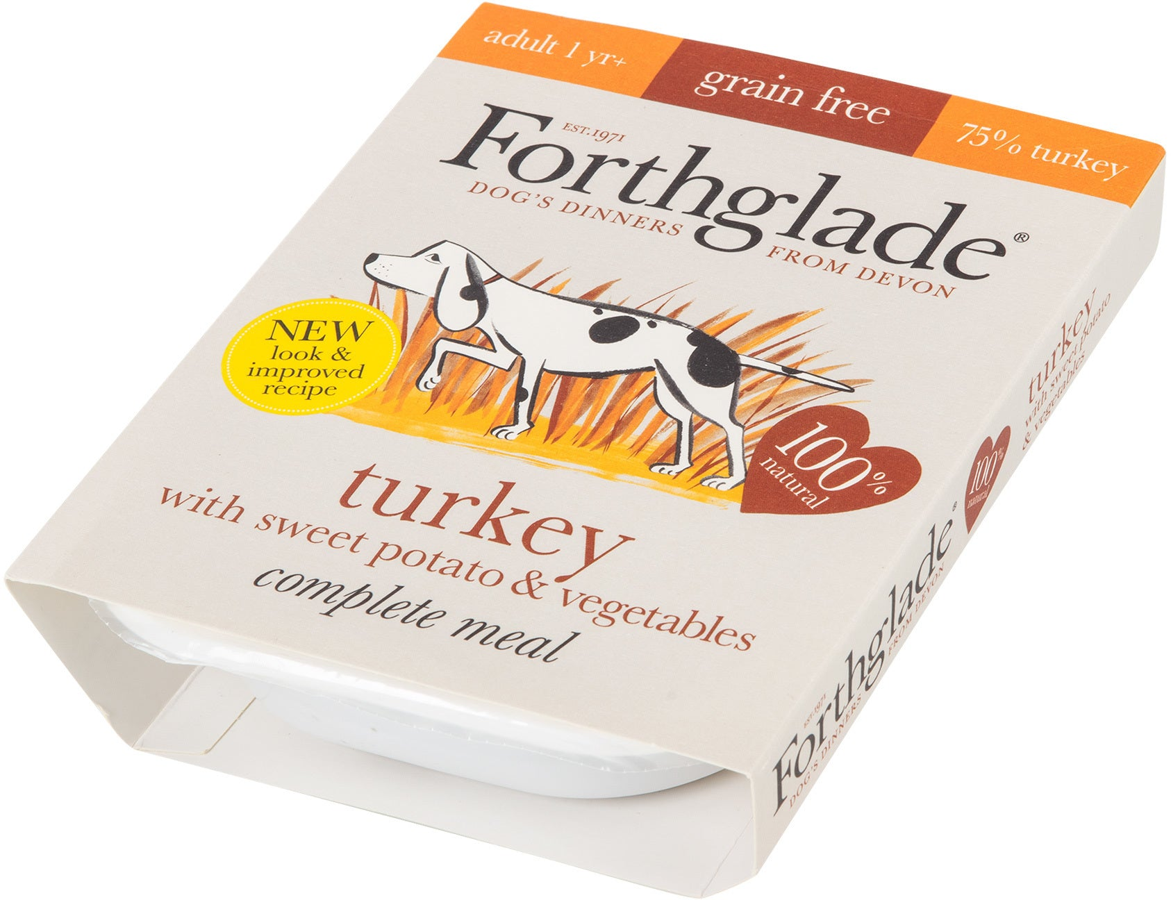 Forthglade Complete Adult Turkey, Sweet Potato & Vegetables Grain Free 7 x 395 g