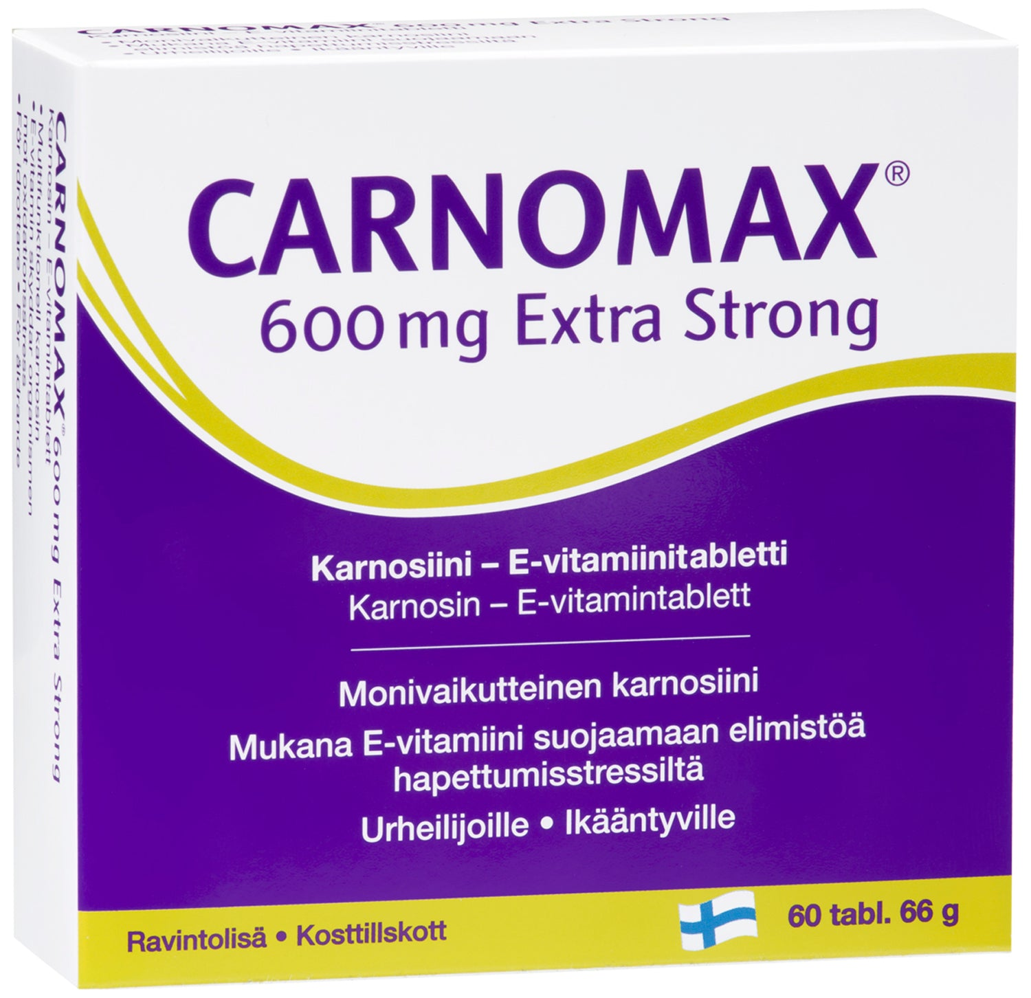 Carnomax 600 mg Extra Strong 60 tablettia