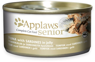 Applaws Cat Senior Tonnikala & Sardiini hyytelössä 24 x 70g