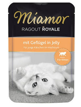 Miamor Ragout Royale Kitten Jelly siipikarja 100 g