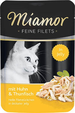 Miamor Feine Filets Jelly kana & tonnikala 24 x 100 g