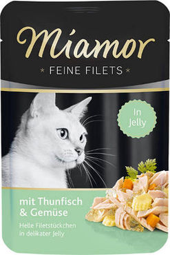 Miamor Feine Filets Jelly tonnikala & vihannes 24 x 100 g