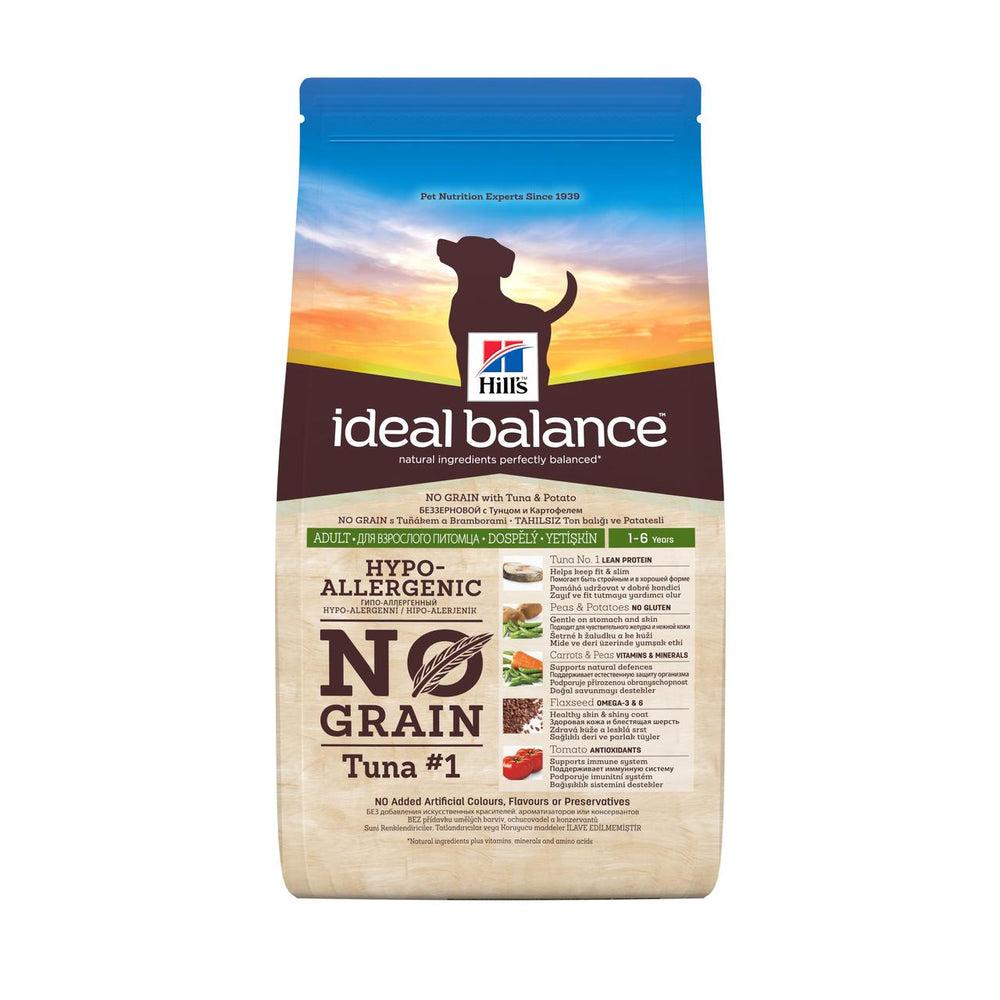 Hill's Ideal Balance Canine Adult No Grain Tuna & Potato 12 kg