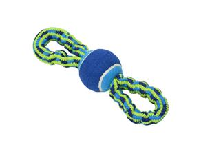 BUSTER Colour Bungee Rope Double Handle with tennis ball 28 cm