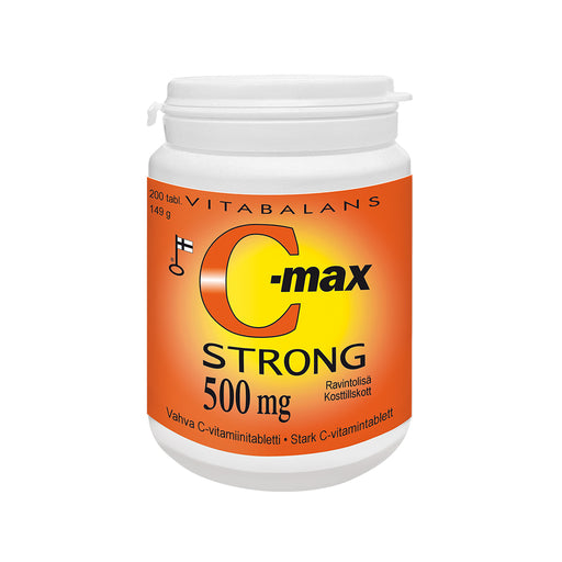C-max Strong 500 mg tabletti 200 kpl