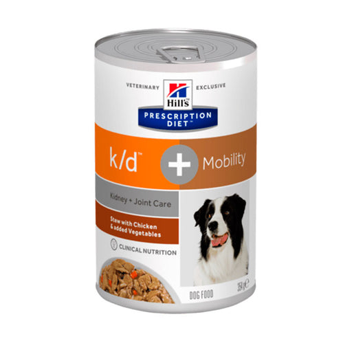Hill's Canine k/d + Mobility Kidney + Joint care muhennos 12 x 354 g