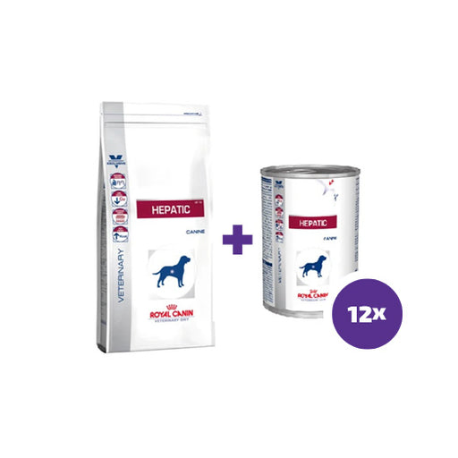 Royal Canin Canine Hepatic 1,5 kg + 12 x 420 g