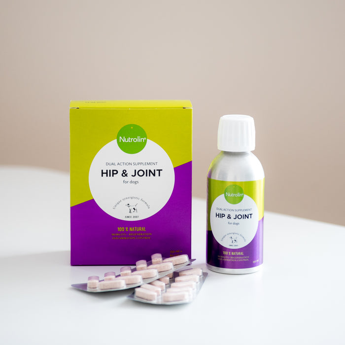 Nutrolin Hip & Joint koirille 450 ml + 180 tabl