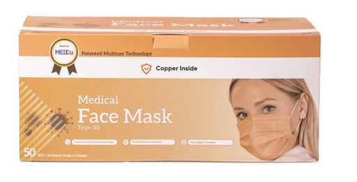 Kuparimaski Medical Face Mask Type IIR CE-merkitty 50 kpl