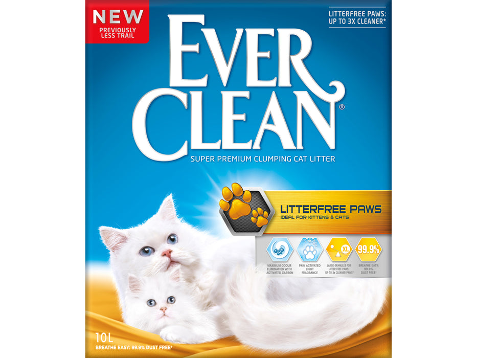 EverClean Litterfree Paws kissanhiekka 6 L