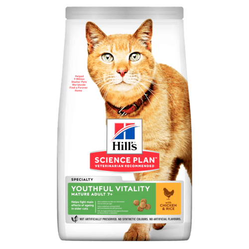 Hill's SP Youthful Vitality Mature Adult Cat, kana & riisi 7 kg