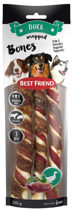 Best Friend Bones 3in1 nauta/possu/ankka pururullat 3 kpl medium 250 g
