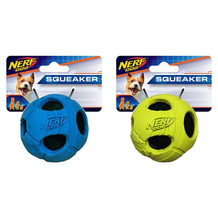 Nerf Squeaker Wrapped Bash Tennisball L