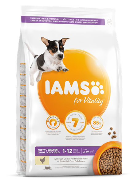 Iams Canine Puppy Small & Medium Dry 12 kg