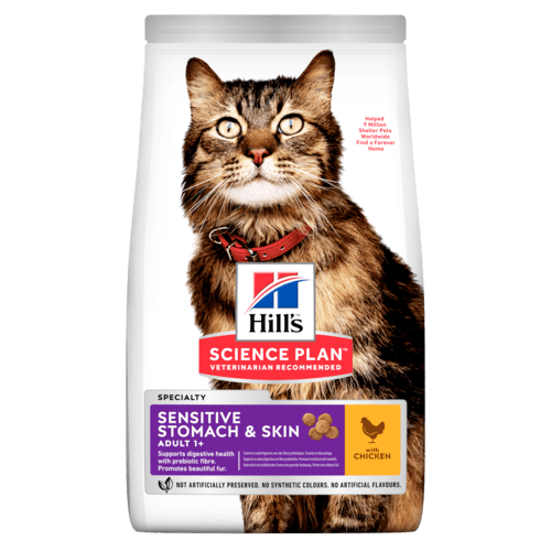 Hill's SP Sensitive Stomach & Skin Adult Cat, kana 7 kg