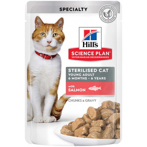 Hill's SP Sterilised Cat Young Adult, lohi 12 x 85 g