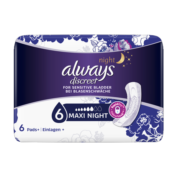 Always Discreet Maxi Night 6 Pack in UK