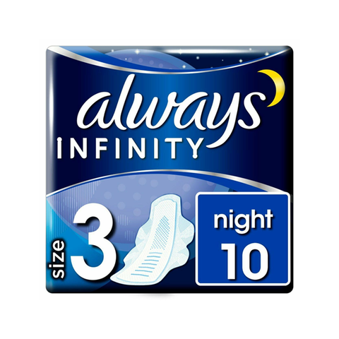 Always Infinity Night With Wings Sanitary Pad 10 Pack in UK