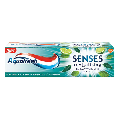 Aquafresh Senses Eucalyptus Lime & Mint Toothpaste 75ml in UK