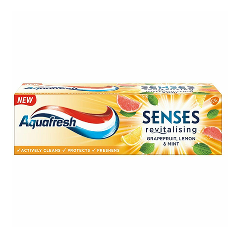 Aquafresh Senses Grapefruit Lemon & Mint Toothpaste 75ml in UK