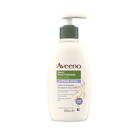 Aveeno Daily Moisturising Body Lotion Lavender Aroma 300ml in UK