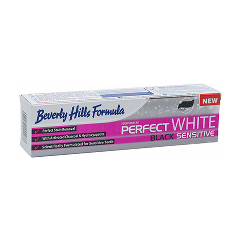 Beverly Hills Formula Perfect White Black Sensitive Toothpaste 100ml in UK