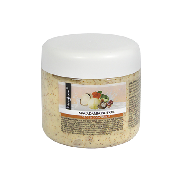 Bio Glow Macadamia Nut Oil Face & Body Scrub 300ml in UK