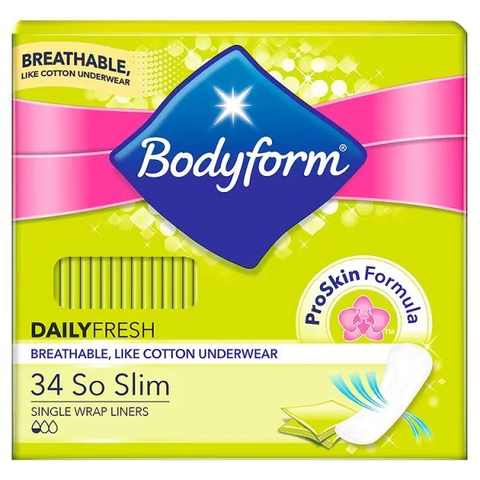 Bodyform So Slim Pantyliners 34 Pack in UK
