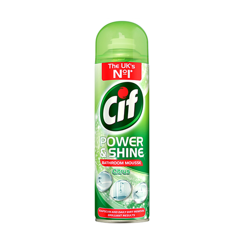 CIF Power & Shine Bathroom Mousse Citrus 500ml in UK