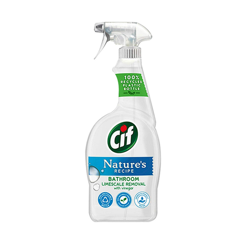 Cif Nature's Recipe Bathroom Limescale Remover Vinegar Spray 750ml in UK