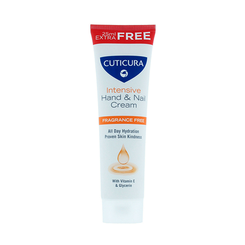 Cuticura Intensive Hand & Nail Cream Fragrance Free 75ml in UK