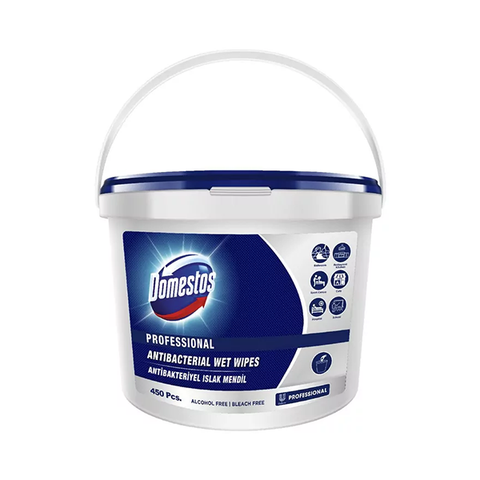 Domestos Professional Antibacterial Surface Cleaning Wet Wipes Bucket 450Pcs in UK