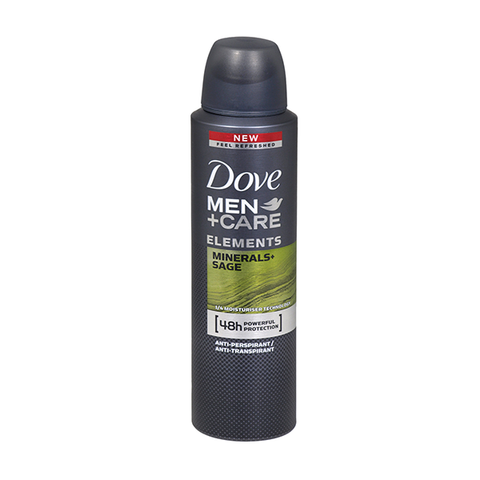 Dove Men+Care Elements Minerals + Sage Anti-Perspirant Spray 150ml in UK