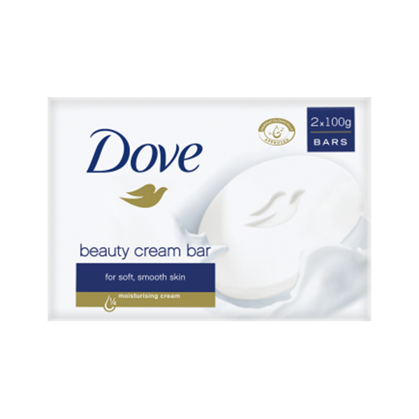 Dove Original Beauty Cream Bar 2x100g in UK