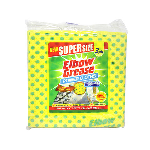 Elbow Grease Power Cloths 3 Pack in UK