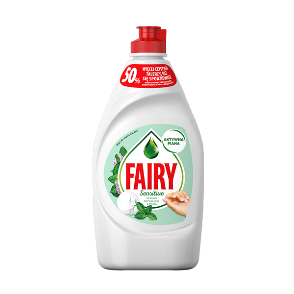Fairy Washing Up Liquid Sensitive Tea Tree & Mint 450ml in UK