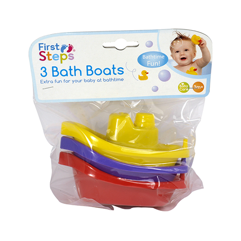 First Steps Bath Boats 3PK in UK