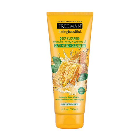 Freeman Feeling Beautiful Deep Clearing Manuka Honey & Tea Tree Clay Mask 175ml in UK