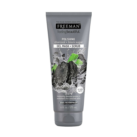 Freeman Feeling Beautiful Polishing Charcoal & Black Sugar Mask & Scrub 175ml in UK