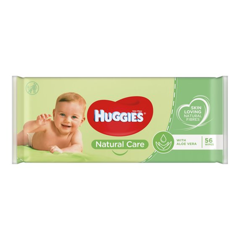 Huggies Natural Care Baby Wipes With Aloe Vera 56's in UK