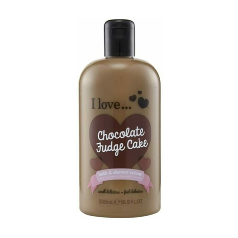 I Love Chocholate Fudge Cake Bath & Shower Creme 500ml in UK