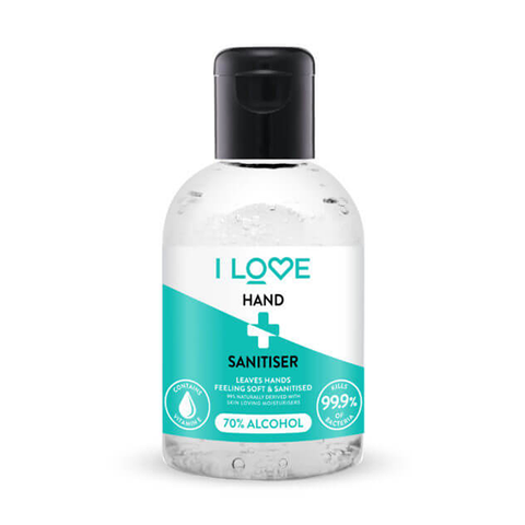 I Love Hand Sanitiser 100ml - 70% Alcohol
