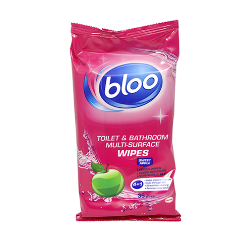 Jeyes Bloo Toilet & Bathroom 4In1 Wipes 36's Sweet Apple in UK