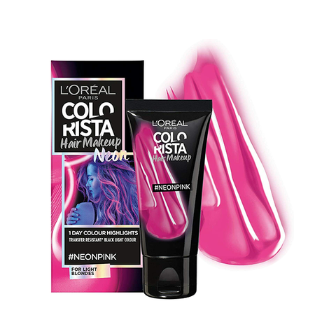 L'Oreal Colorista Hair Makeup Neon Pink Hair Light Blonde Temporary Hair Colour in UK