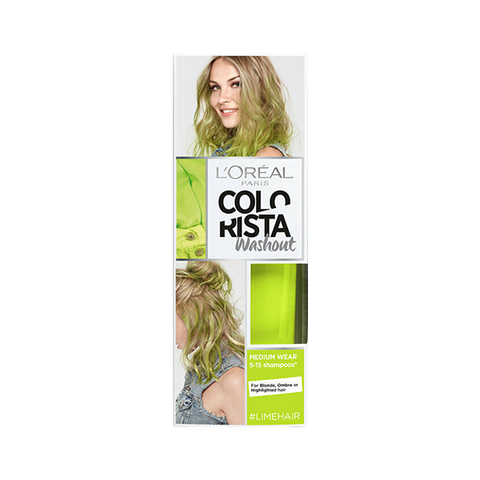 L'Oreal Colorista Washout Lime Semi-Permanent Hair Dye in UK