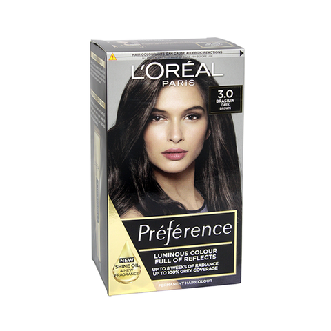 L'Oreal Preference 3.0 Brasilia Dark Brown Permanent Hair Dye in UK